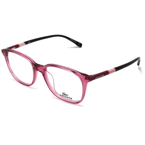 fa4c80748fed Lacoste Eyeglasses Rose Pink Crystal Frame